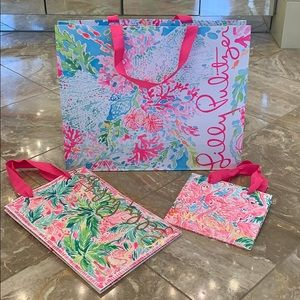 NWOT Lilly Pulitzer gift bags